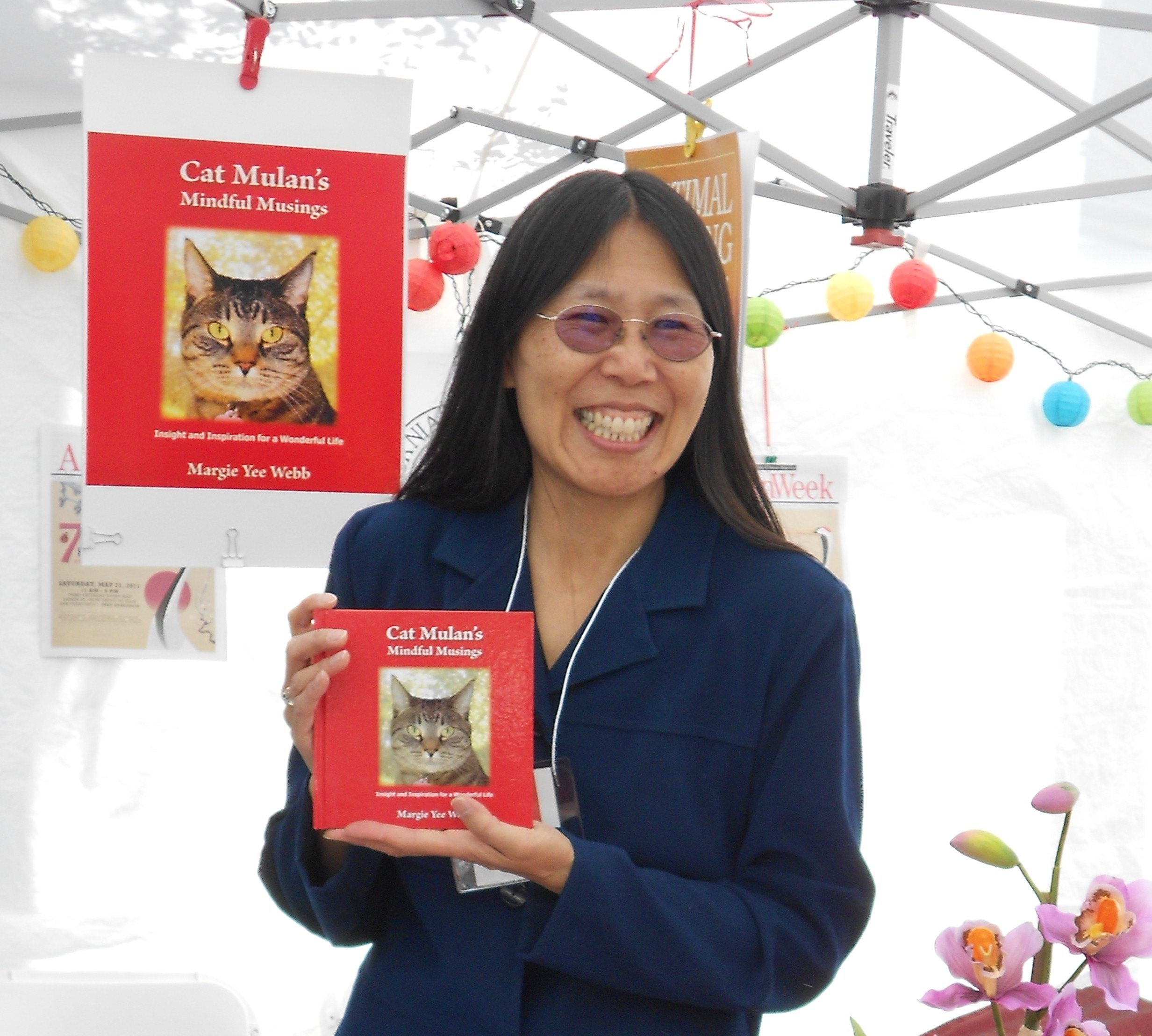 Margie Yee Webb, author-photographer of Cat Mulan's Mindful Musings