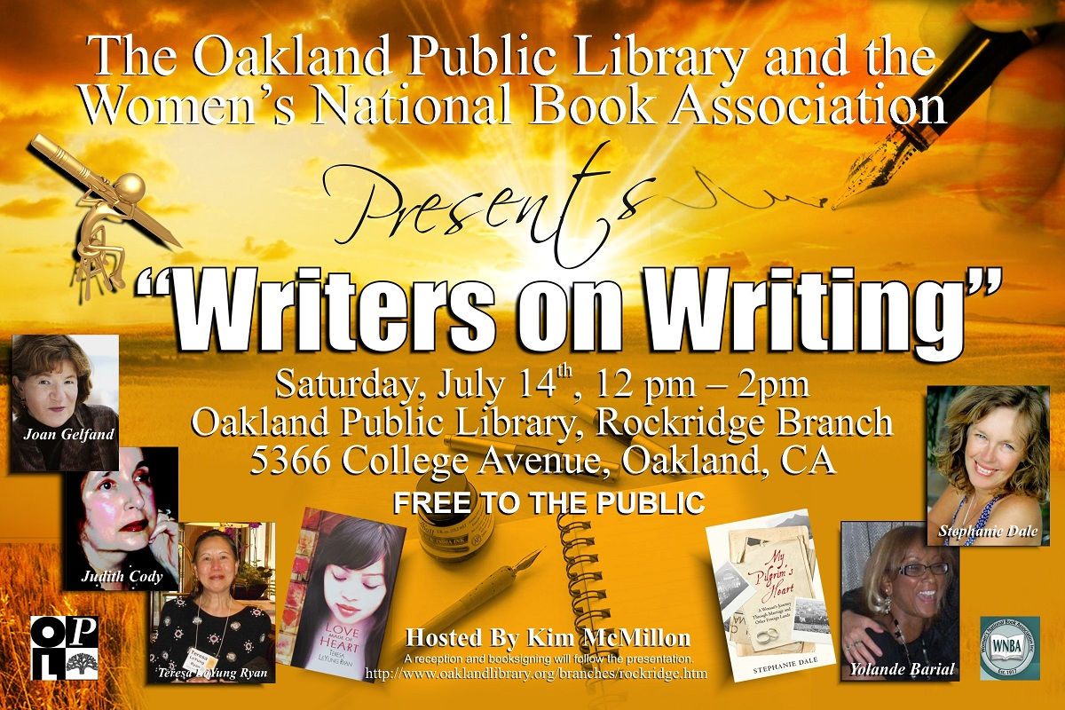 Writers on Writing 2012 July 14 Rockridge Library, Oakland, CA