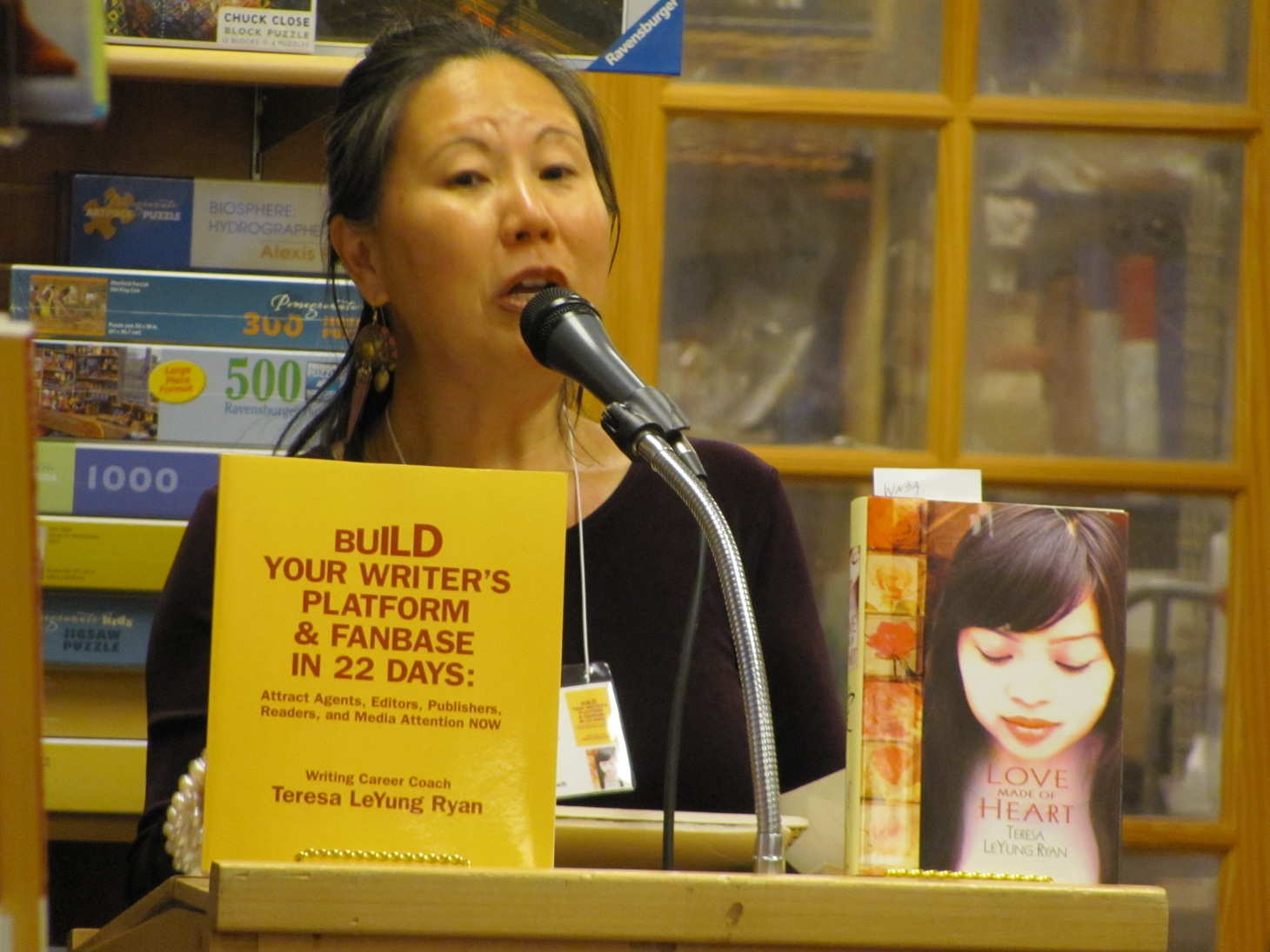 Coach Teresa LeYung-Ryan says Reach out not stress out to build your writer's platform & fanbase